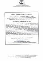 EDITAL AUDIÊNCIA PÚBLICA Nº 001/2019