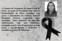 NOTA DE FALECIMENTO EX - PREFEITA DR. HERMÍNIA TAVARES