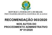RECOMENDAÇÃO 003/2020